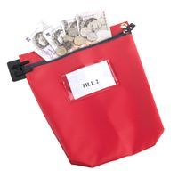 GOSECURE CASH BAG WITH WINDOW RED