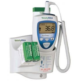 Welch Allyn SureTemp Plus 692 Thermometer with 9ft Oral Probe, Wall Mount, Alarm & Probe Well