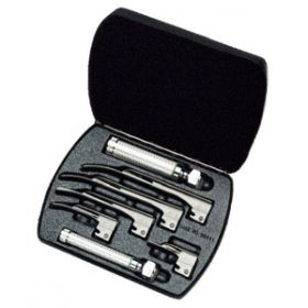 Welch Allyn Fiber Optic Miller Laryngoscope Set Case