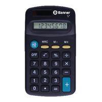 BANNER 8 DIGIT POCKET CALCULATOR