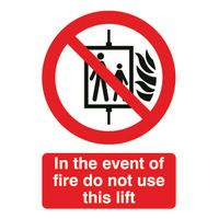 SIGNS/L FIRE DO NT USE LIFT FR08651R