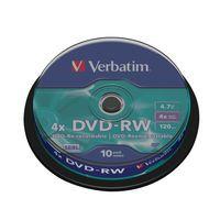 VERBATIM DVD RW 4X SPINDLE PK10