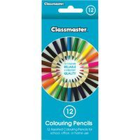 CLASSMSTR COLOURING PENCIL AST CPW12