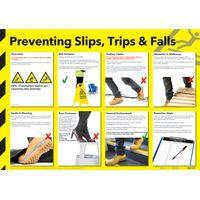 PREVENTING SLIPS, TRIPS FALLS POSTER 101-7008