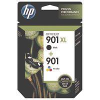 HP 901XL/901 INK CART COMBO BLK/TRI