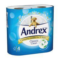 ANDREX TOILT ROLL CLASSIC WHT PK6X4