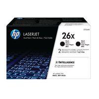 HP 26X HY TONER BLACK TWIN PACK