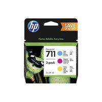HP 711 INK CARTRIDGE TRICOLOUR PK3