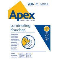 FELLOWES APEX LAM POUCH A4 LGHT DUTY 1020535