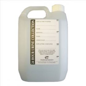 Urine Collection Polythene Container With Printed Label 2LTR