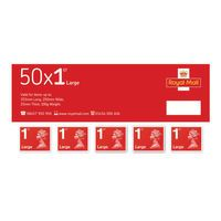 FIRST CLASS LGE LETTER STAMPS BK 50