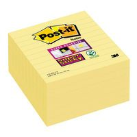 POSTIT NOTES YLW LINED 101X101 P6