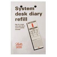LETTS SYSTEM DESK CALENDAR RFL 2020