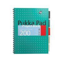 PUKKA METALLIC PROJECT BOOK B5 PK3
