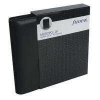 FILOFAX A5 METROPOL ZIP ORGN BLACK