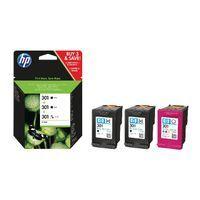 HP 301 BLACK N TRI-COL 3PK INK CART