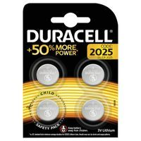 DURACELL 2025 LITH COIN BATTERY PK4