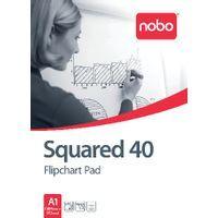 NOBO FLIPCHART PAD SQUARED 40SHT PK5