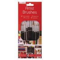 12 NATURAL ARTIST BRUSHES 12 PCK
