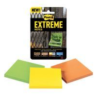 POST-IT EXTREME 76X76MM ASSORTED PK3