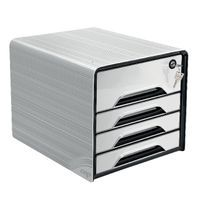 SMOOVE SECURE 4DRAWER MOD W/LOCK WHT