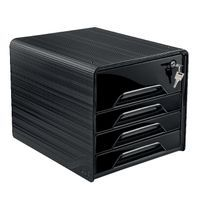 SMOOVE SECURE 4DRAWER MOD W/LOCK BLK