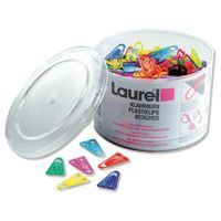 LAUREL PAPERCLIP PLASTIC 60MM PK75