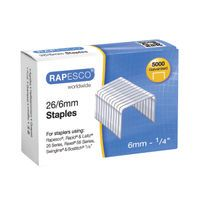 RAPESCO STAPLES NO.50/6 26/6 6MM MTL