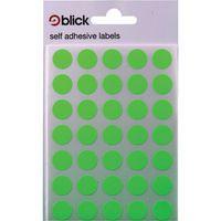 Blick Flourscent Lbls 13mm Grn P2800