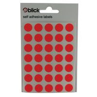 Blick Coloured Lbls 13mm Red Pk2800