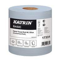 KATRIN WHT CFEED 2 PLY HTWL BLU PK6