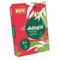 ADAGIO CARD 160G A4 RED PK250
