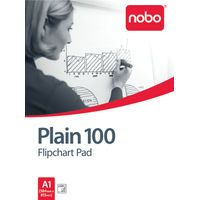NOBO 100 FLIPCHT PAD A1 PLAIN PK2