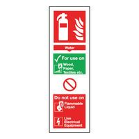 SIGN FREE EQUIP WATER 300X100MM S/A