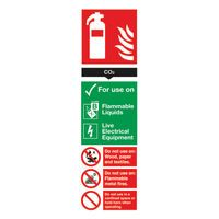 SIGN FIRE CRB DIOXIDE 300X100MM PVC
