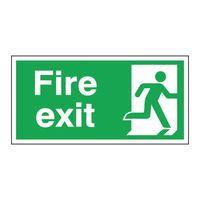 FIRE EXIT RIGHT 150X300MM S/A E98A/S