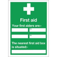 SIGN FIRST AID AND YOUR 600X450MM