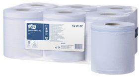 Tork Basic Paper 2 Ply Centrefeed Roll Blue [Pack of 1]