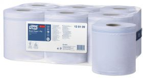 Tork Basic Paper 1 Ply Centrefeed Roll Blue [Pack of 30]