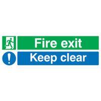 FIRE EXIT KEEP CLR 15X45 PVC EC08S/R