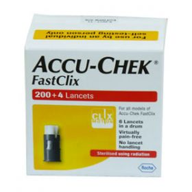 Accu-Chek Fastclix 200 + 4 Lancets