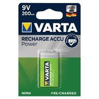 VARTA NIMH RECHARGEABLE 9V BATTERY