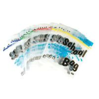 BDS MAXIGRIP SCHOOL BAG A4 CLEAR