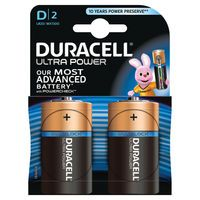 DURACELL ULTRA M3 BATTERIES D PCK 2