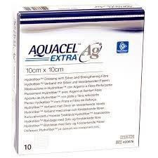 Aquacel Extra Hydrofiber Dressing 10cm x 10 cm [Pack of 10]