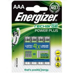 Energizer Power Plus AAA HR03 Pre-charged Rechargeable Batteries [Pack of 4]