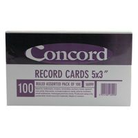 CONCORD RECD CRD 5X3 AST P