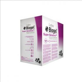 Biogel Super-Sensitive Latex Powder Free Sterile Surgeons Gloves Size 7.5 [Pack of 50]