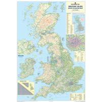 MAP BRITISH ISLES MOTORING MAP