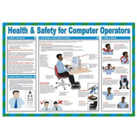 Health and Safety for Computer Operators, Laminated